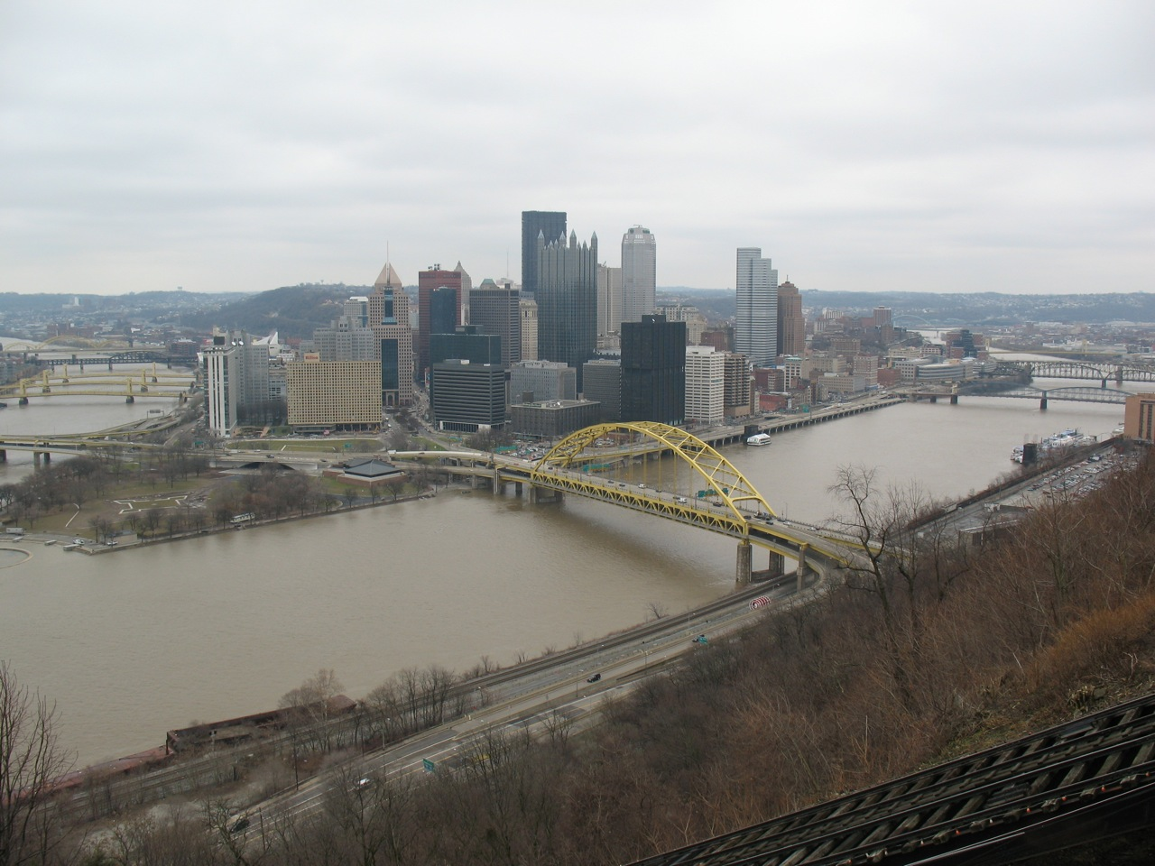 Duquesne Incline - View fom the Observation deck.