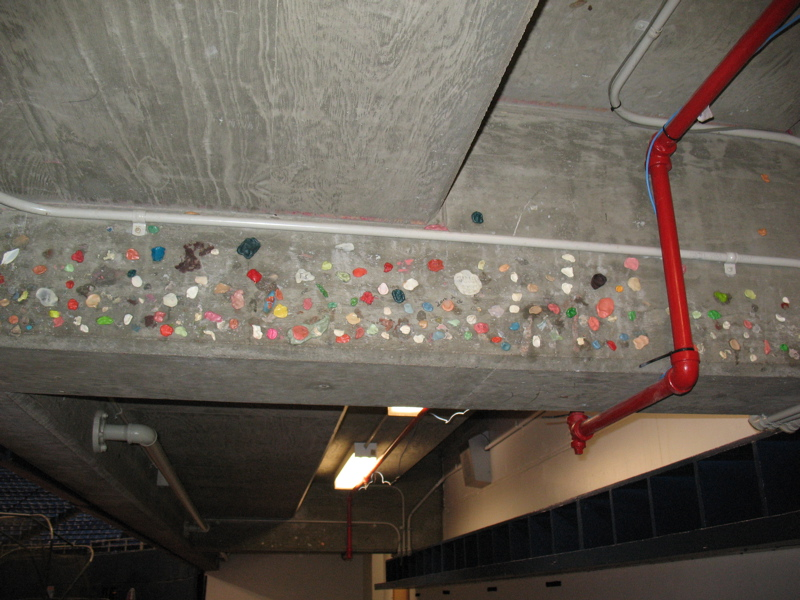Gum in the Twins dugout - Metrodome