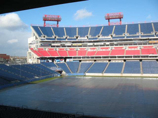 No Snow at LP Field in Nashvile