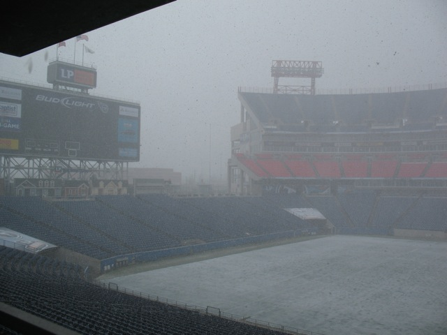 Snow at LP Field in Nashville