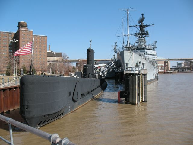 USS Croaker (Left) & USS Little Rock (Right)