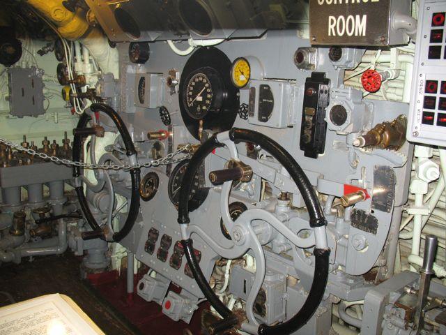 USS Croaker control room