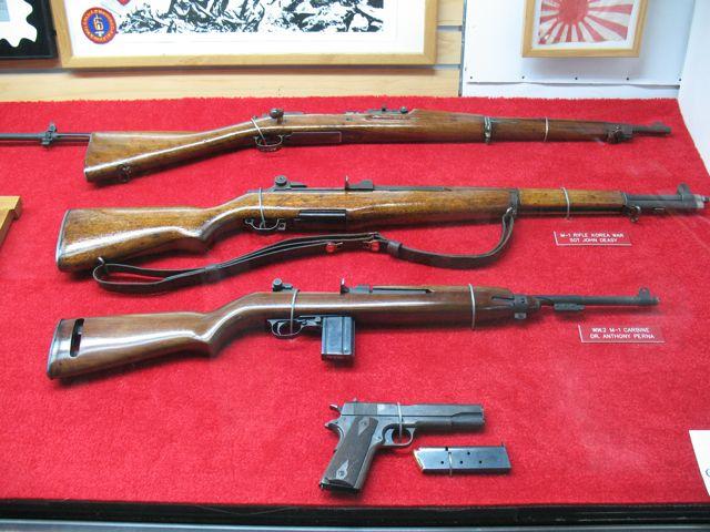 Firearms display on USS Little Rock