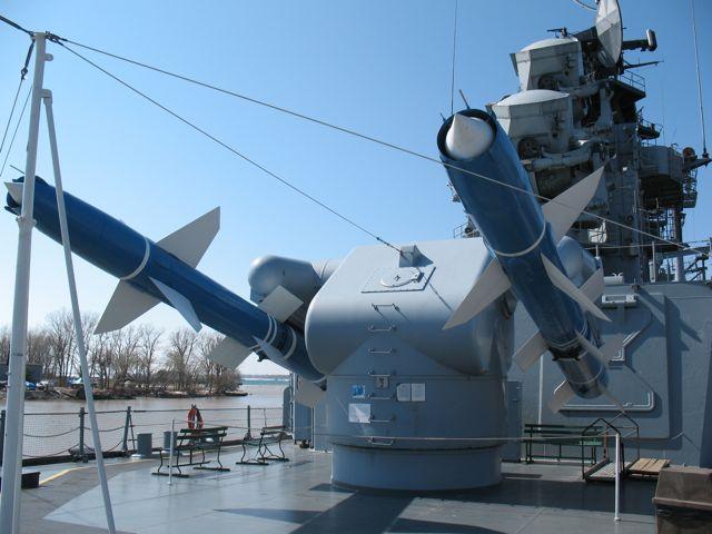 Talos missiles on the USS Little Rock