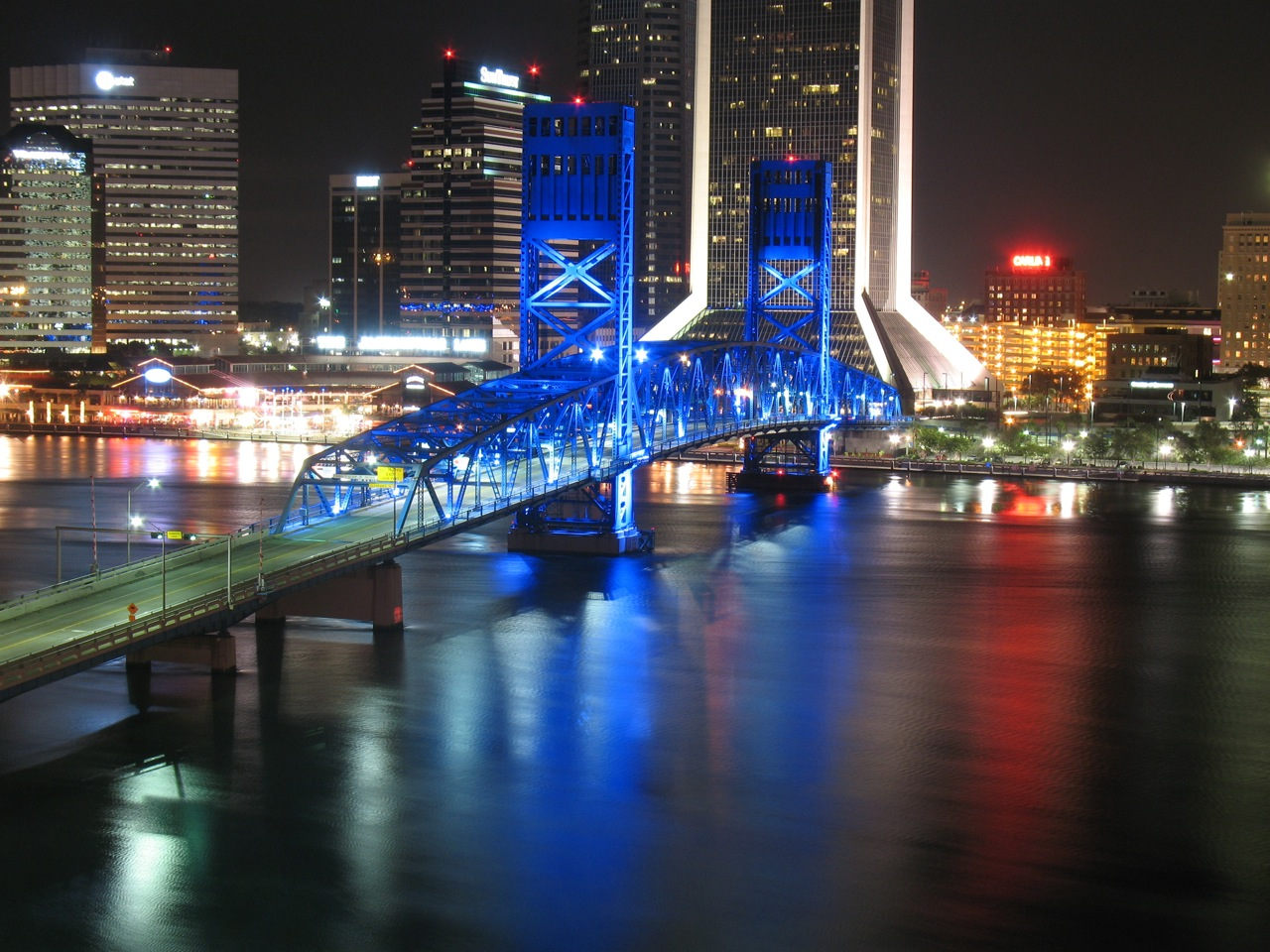 Search your home town/city. Jacksonville-bridge-night