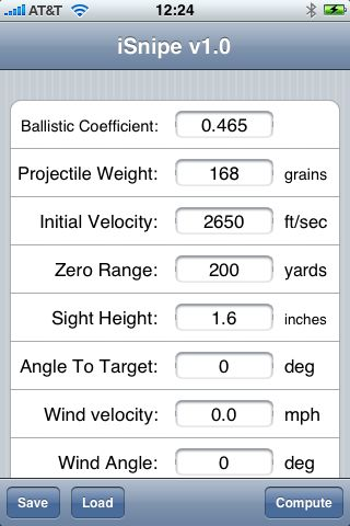 Isnipe Ballistics Calculator For The Iphone Snarkybytes